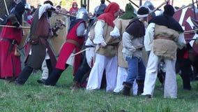 Medieval battles stock footage