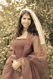 Medieval beautiful woman royalty free stock photography
