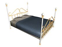Medieval bed. Illustration of a medieval bed Royalty Free Stock Images