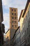 Medieval belfry in Arezzo (Tuscany, Italy) Stock Photo