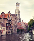 Medieval Belfry of Bruges Stock Image