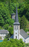 Medieval belfry in Luxembourg City Royalty Free Stock Image