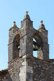 Medieval bell tower, detsail of the top part Stock Photos