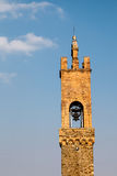 The Medieval Bell Tower in Montalcino Stock Image