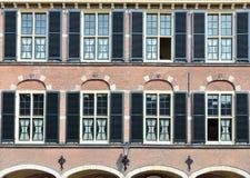 Medieval Binnenhof complex in historical centre of Hague Stock Photos