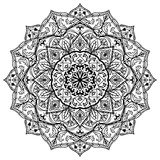 Medieval black and white mandala. Royalty Free Stock Photo