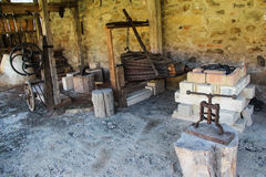 Medieval Blacksmith Workshop Stock Photo