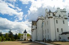 Medieval Blair Castle. Details of the old medieval Scottish castle known as Blair Castle Stock Images