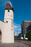 Medieval Bollwerk tower in Mulhouse Stock Photo