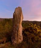Medieval border marker in Lampai Teo. Galicia Stock Photo