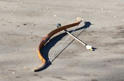 Medieval bow and arrow Stock Images