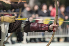 The medieval bow Royalty Free Stock Images