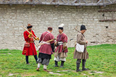 Medieval bowmans Royalty Free Stock Images