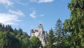 The medieval Bran Castle in Brasov, Romania stock image