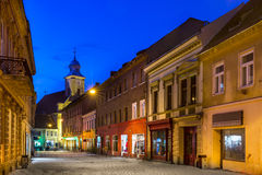 Medieval Brasov in night, Transylvania, Romania Royalty Free Stock Images