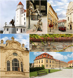 Medieval Bratislava Collage. Collage with picture from Bratislava, Slovakia. Useful for touristic agencies, calendars, guides, post cards, advertising, ads Royalty Free Stock Image