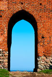 Medieval brick gate Stock Photography