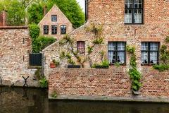 Medieval brick houses in Bruges Brugge Stock Photography