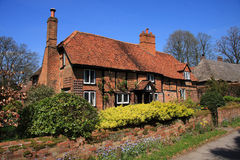 Medieval brick and timber cottage Royalty Free Stock Photo