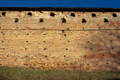 Medieval brick wall background Stock Image