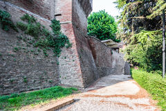 Medieval brick walls Stock Image