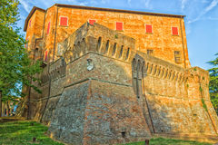 Medieval brick walls. The medieval brick walls of the small village of Dozza near Bologna in Emilia Romagna, Italy Royalty Free Stock Photography