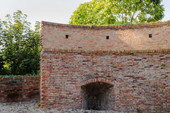 Medieval brick walls Royalty Free Stock Photography