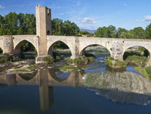 Medieval bridge Stock Images