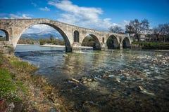 Medieval bridge in Arta, Greece Royalty Free Stock Photography