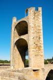 Medieval bridge in Besalu, Spain Stock Image