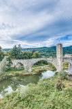 Medieval bridge in Besalu, Spain Royalty Free Stock Photo