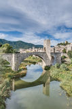 Medieval bridge in Besalu, Spain Royalty Free Stock Image