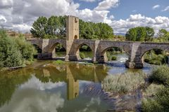 Medieval bridge of Frias in Burgos Royalty Free Stock Images