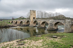 Medieval bridge of Frias in Burgos Royalty Free Stock Photography