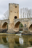 Medieval bridge of Frias in Burgos Royalty Free Stock Photo