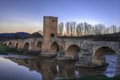 Medieval Bridge Frias Spain Stock Photo