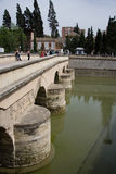Medieval bridge of Granada Royalty Free Stock Images