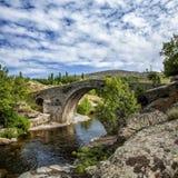 Medieval Bridge. Over the Alberche river, Sierra de Gredos, Spain Royalty Free Stock Photography