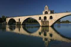 Medieval bridge over Rhone, Avignon, France Royalty Free Stock Images