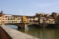Medieval bridge Ponte Vecchio in Florence Stock Image