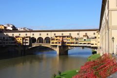 Medieval bridge Ponte Vecchio in Florence Stock Images