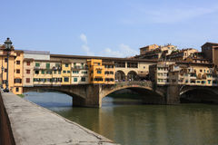 Medieval bridge Ponte Vecchio in Florence royalty free stock images