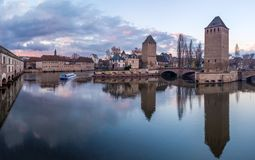 Ponts Couverts from the Barrage Vauban in Strasbourg France. Medieval bridge Ponts Couverts from the Barrage Vauban in Strasbourg France Stock Photography