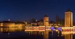 Ponts Couverts from the Barrage Vauban in Strasbourg France. Medieval bridge Ponts Couverts from the Barrage Vauban in Strasbourg France Stock Image