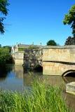 Medieval bridge and river, Burford. Stock Photo