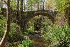 Medieval Bridge in Tris Elies in Troodos, Cyprus Royalty Free Stock Image