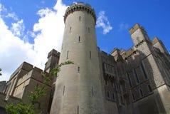 A medieval British castle facade Stock Image