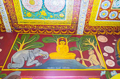 The medieval Buddhist art Royalty Free Stock Photos