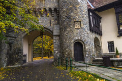 Medieval building. With road beneath Stock Images