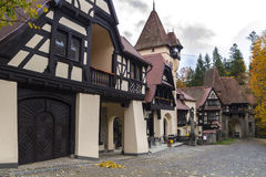 Medieval building. With front yard Royalty Free Stock Image